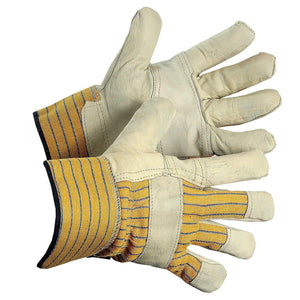 """49th Parallel"" Thinsulate Lined, Patch Palm Grain Leather Work Gloves - Hi Vis Safety"