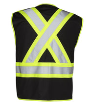 Load image into Gallery viewer, 5-Point Tear-Away Hi Vis Traffic Safety Vest, Tricot Polyester, 3 Sizes - Hi Vis Safety
