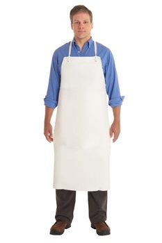 White Vinyl Apron, 20 mil, Heavy duty