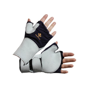 Fingerless Nylon and Suede Leather Glove 704-10