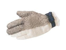 Load image into Gallery viewer, Unisex Mesh Gloves, Stainless Steel, Short/Strap Cuff, Resists: Abrasion, Cut and Puncture