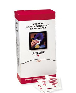 Allegro Respirator Cleaning Pad Towelettes, 5 in x 8 in (100/Box)