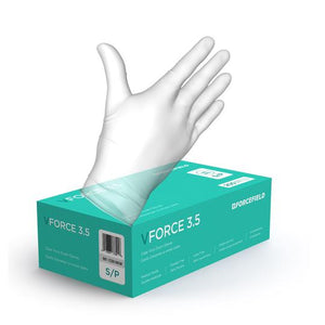VForce 3.5 Vinyl Disposable Examination Gloves (Case of 2000 Gloves)