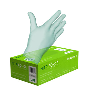 Nitriforce Greenleaf Biodegradable Disposable Examination Gloves (Case of 1000 Gloves)