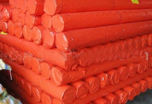Orange Rip-Proof Polyethylene Tarp - Hi Vis Safety