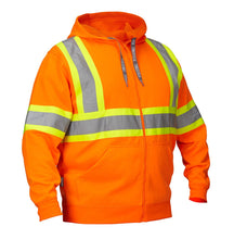 Load image into Gallery viewer, Deluxe Hi Vis Safety Hoodie, Attached Hood
