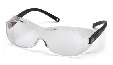 Pyramex: Clear Lens with Black Temples