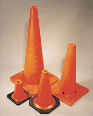 18 inch Traffic Cone 3 Lb Weighted