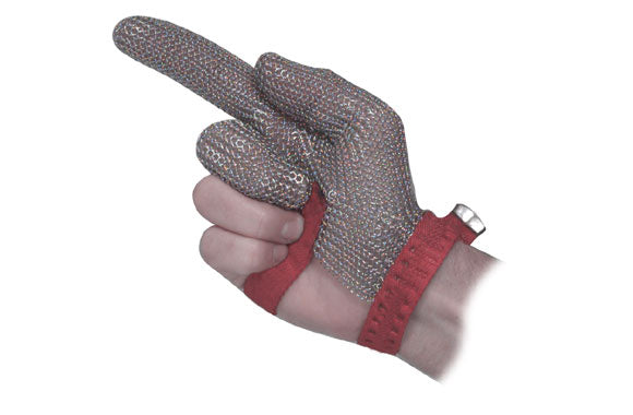 Unisex Mesh Gloves, Stainless Steel, Short/Strap Cuff, Resists: Abrasion, Cut and Puncture