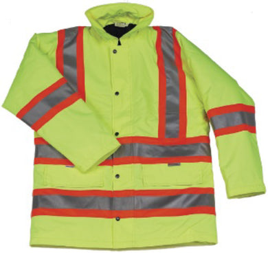 Hi Vis Lime Lined Parka - XXX-Large