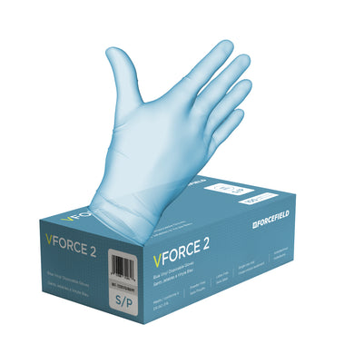 VForce 2 Blue, Food Grade Disposable Gloves
