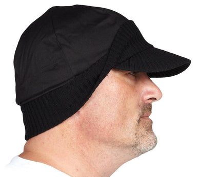 Black Toque with Baseball Brim - Hi Vis Safety