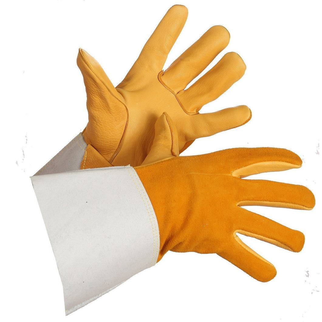 Deerskin Grain Leather Tig Welder - Hi Vis Safety