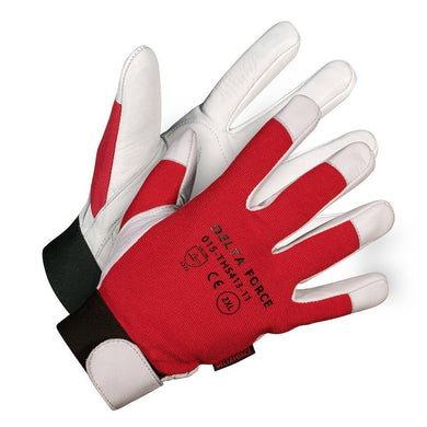 Delta Force  Vibration Dampening Gloves - Hi Vis Safety