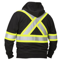 Load image into Gallery viewer, Deluxe Hi Vis Safety Hoodie, Attached Hood - Hi Vis Safety