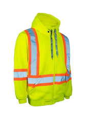 Load image into Gallery viewer, Deluxe Hi Vis Safety Hoodie, Detachable Hood - Hi Vis Safety