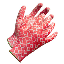 "Load image into Gallery viewer, ""Fieldwork Ladies Garden Gloves"" Seamless Palm Nitrile Coated - Hi Vis Safety"