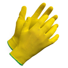 "Load image into Gallery viewer, ""Fieldwork Ladies Gardening Gloves"" Seamless Crinkle Palm Coated - Hi Vis Safety"