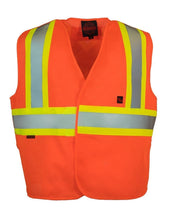 Load image into Gallery viewer, Fire Resistant (FR) 5-Point Tear-away Hi Vis Safety Vest - Hi Vis Safety