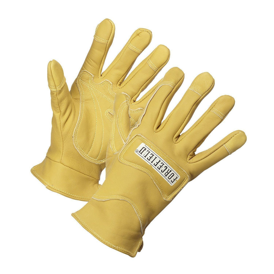 Flame Resistant Goatskin Leather Driver's Gloves - Hi Vis Safety