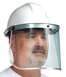 Formed Polycarbonate Visor with Aluminum Binding - Hi Vis Safety