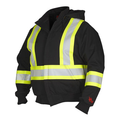 FR Hoodie, with Detachable Hood - Hi Vis Safety
