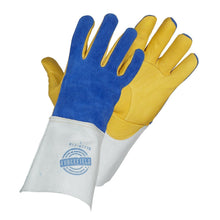 Load image into Gallery viewer, Gold Welders with Grain Leather Palm - Hi Vis Safety