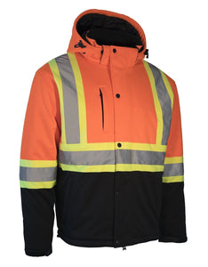 Hi Vis Softshell Winter Safety Jacket - Hi Vis Safety