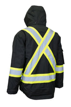 Load image into Gallery viewer, Hi Vis Winter Safety Parka with Removable Down Insulated Nylon Puffer Jacket - Hi Vis Safety