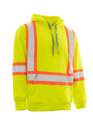 Deluxe Hi Vis Pullover Safety Hoodie