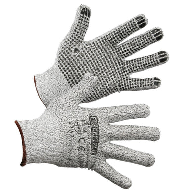 HPPE Cut Resistant Glove with Nitrile Dots on Palm, Cut Level 3 - Hi Vis Safety