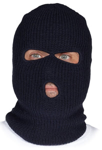 Knitted Acrylic Balaclava, three openings - Hi Vis Safety