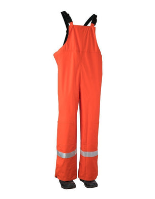 Lightweight Fire Resistant (FR) Hi Vis Safety Rain Overalls - Hi Vis Safety