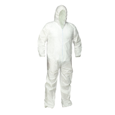 Microporous Disposable Coverall with Hood - Hi Vis Safety