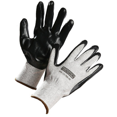 Nitrile Palm Coated Cut Resistant Glove, HPPE Cut Level 3 - Hi Vis Safety