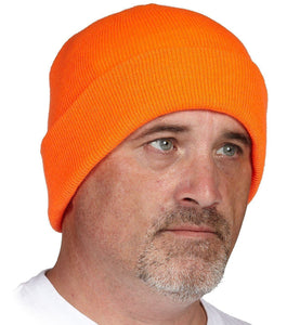 Orange Acrylic Toque - Hi Vis Safety