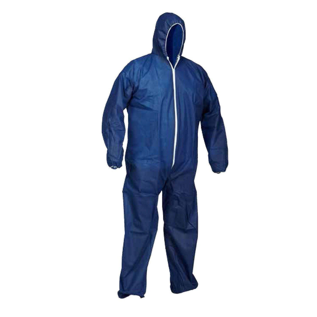 Polypropylene Disposable Coverall with Hood, Case of 25 - Hi Vis Safety