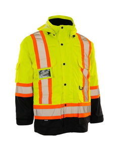 Re-Engineered 4-in-1 Hi Vis Safety Parka - Hi Vis Safety