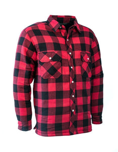 Red Buffalo Plaid Quilted Flannel Shirt - Hi Vis Safety