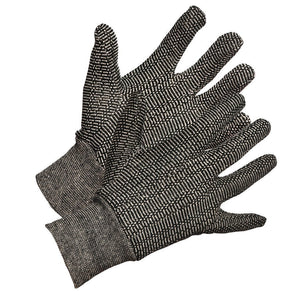 Salt & Pepper Cotton Work Gloves - Hi Vis Safety