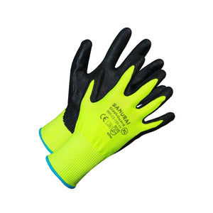 """Samurai Slash Guard"" Level 5 Cut Resistant Gloves - Hi Vis Safety"