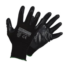 Load image into Gallery viewer, Seamless Knit Nylon Nitrile Palm Coated Work Gloves - Hi Vis Safety