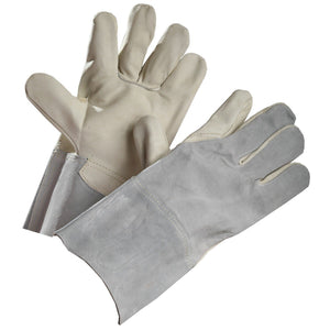Split Leather Linesman's Glove - Hi Vis Safety