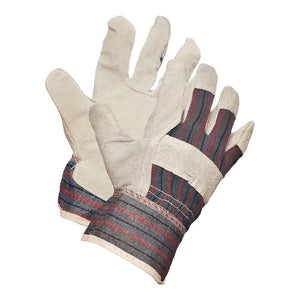 Split Leather Work Gloves, Economy Grade - Hi Vis Safety