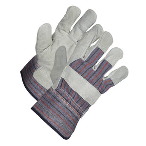 Split Leather Work Gloves, Standard Grade - Hi Vis Safety