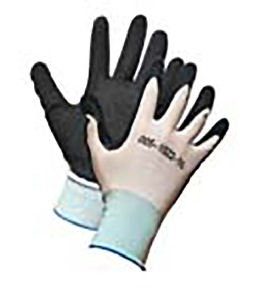 Nylon Work Glove, Palm Coated with Crinkle Latex