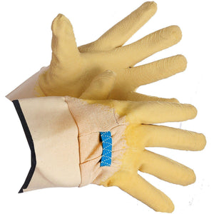 """Trash Collector"" Latex Coated Work Glove, Wrinkle Finish, Safety Cuff - Hi Vis Safety"