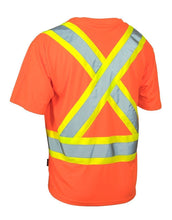 Load image into Gallery viewer, Ultrasoft Hi Vis Crew Neck Short Sleeve Safety Tee Shirt with Chest Pocket - Hi Vis Safety