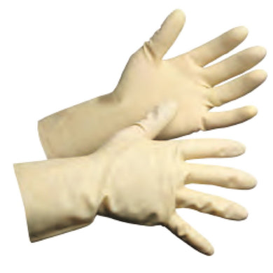 Unlined Latex Chemical Resistant Canner's Gloves - Hi Vis Safety