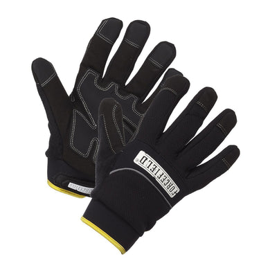 Waterproof Lined and Insulated Mechanic's Gloves - Hi Vis Safety